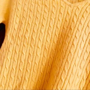 Sisters Sweaters - Cashmere Yellow Knit Sweater